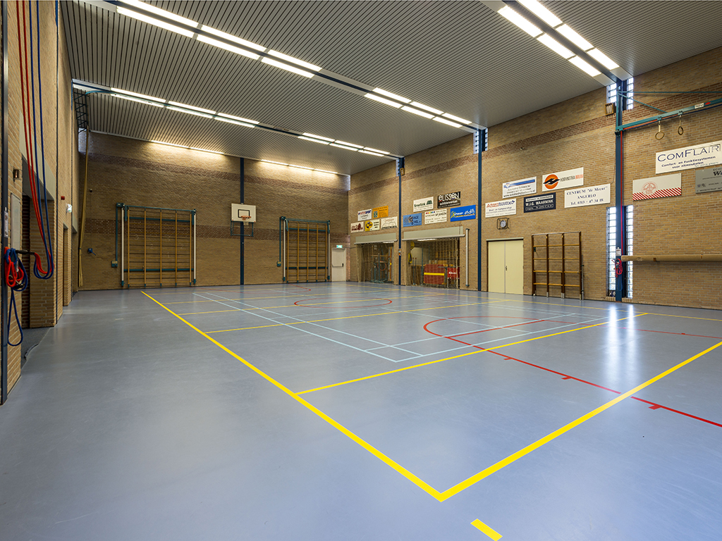 Interieur gymzaal Angerlo, Prinses Margrietstraat 8