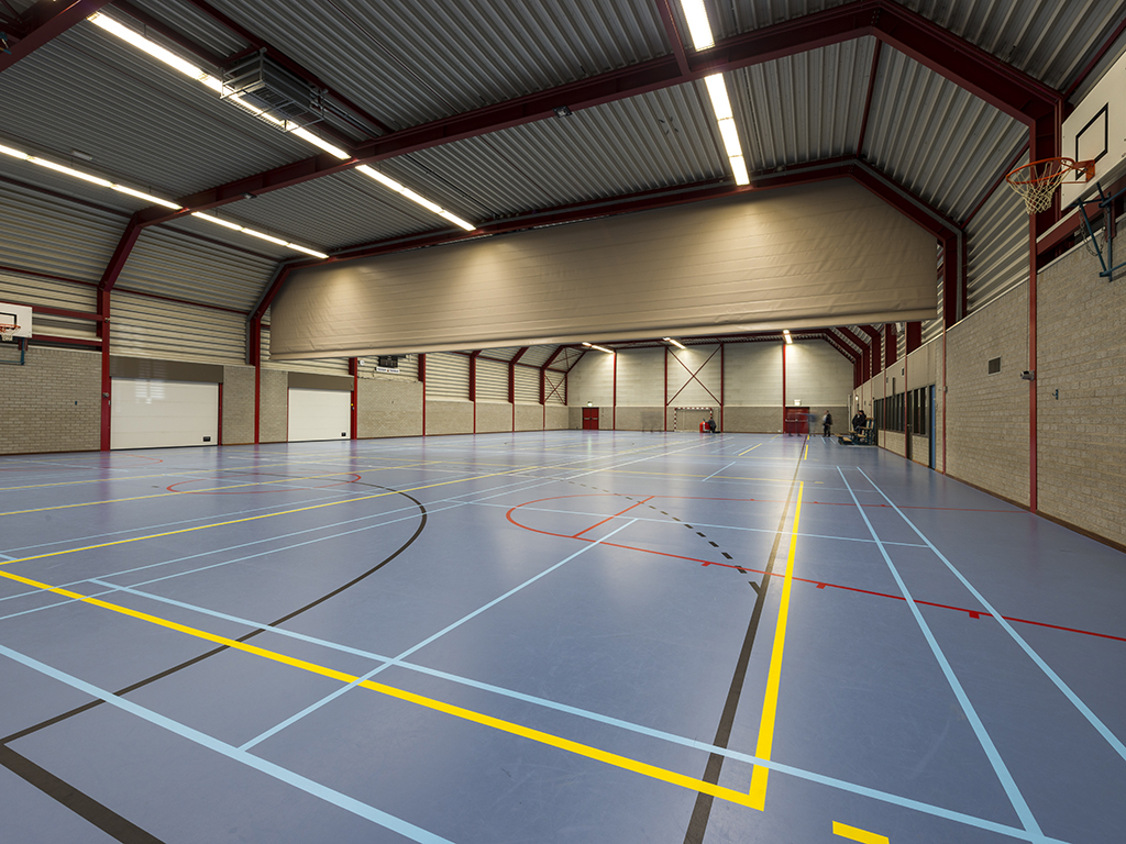 Interieur gymzaal De Panoven in Giesbeek