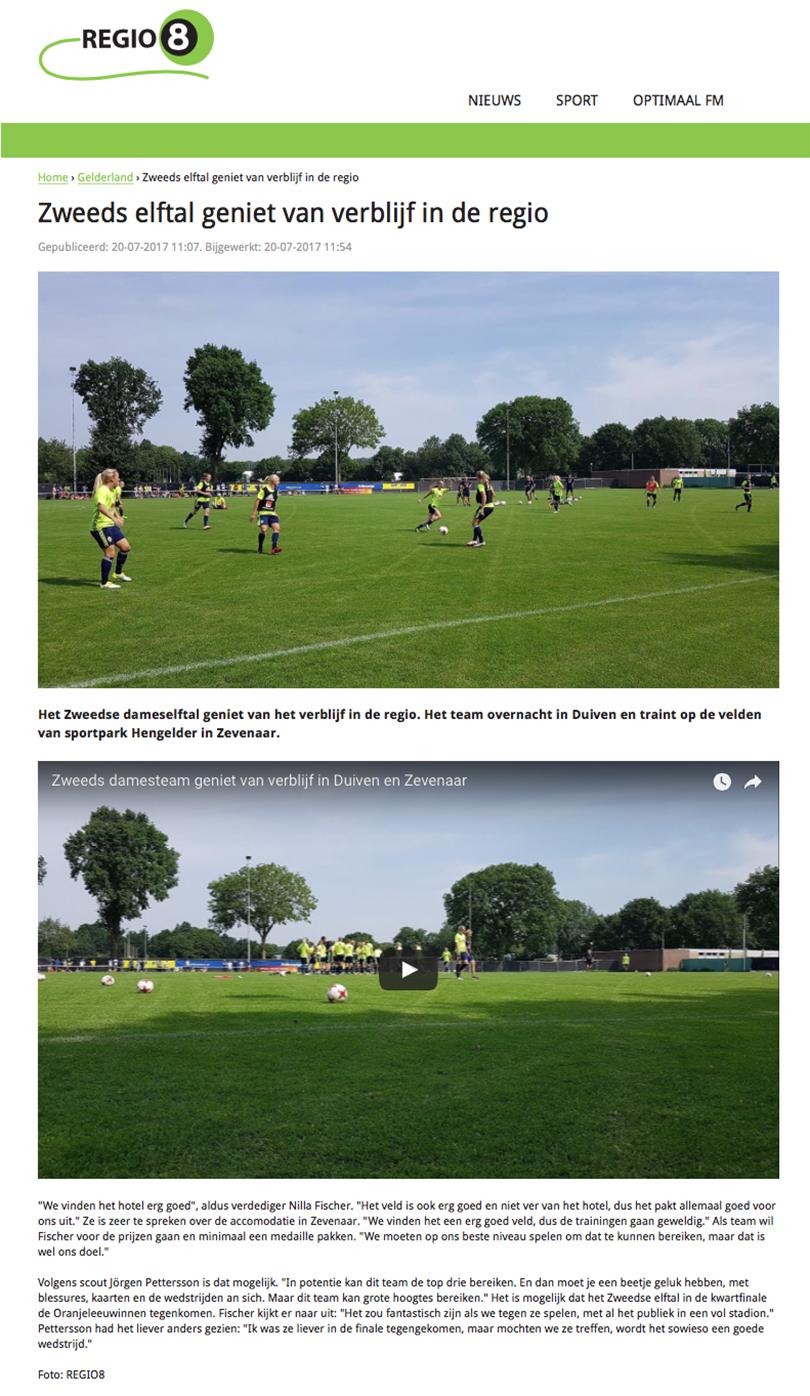 Regio 8, Zweeds vrouwen elftal, Sportpark Hengelder