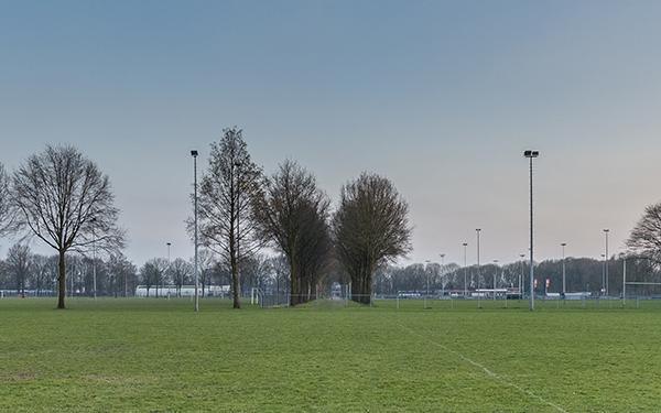 Rugbyveld bij rugbyvereniging De Duuvels in Zevenaar