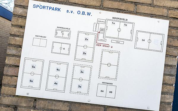 Overzicht sportvelden OBW Zevenaar